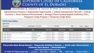 Early February El Dorado Co dissolution search