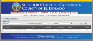 Dissolution search done in El Dorado County, May 4, 2014